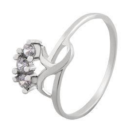 Lovely Zircon Silver Finger Ring-FRL058