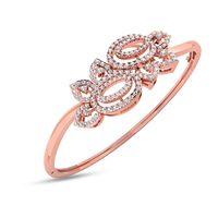 Flower Diamond Kada Bracelet- RBR0090, vvs-gh, 18 kt