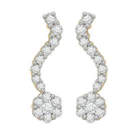 Single Row Diamond Earrings- BAER0771