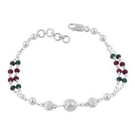 Pearl & Beads Sterling Silver Bracelete- BR026