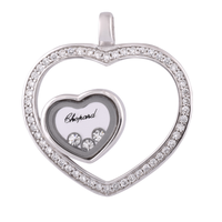 Heart Layer Silver Pendant-PDMX045