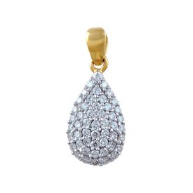 Pear Diamond Pendant- BAPS2082P