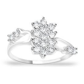 Charming White CZ Silver Finger Ring-FRL014