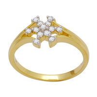 Beautiful Diamond Ring - DAR0075, si - ijk, 12, 18 kt