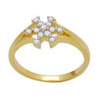 Beautiful Diamond Ring - DAR0075, si - ijk, 12, 18 kt