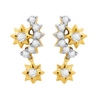 Sarika Diamond Earrings- DAPS033ER, si - ijk, 18 kt