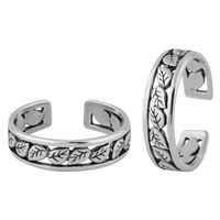 Leaflet Silver Toe Ring-TR386