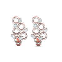 Petals Circled Diamond Cuffs-RBL0068, vvs-gh, 18 kt