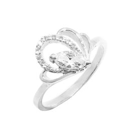 Appealing CZ Silver Finger Ring-FRL099