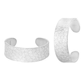 Star Engraved Silver Toe Ring-TRRD027