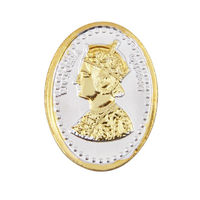 Queen Victoria Gold Polish Oval 20 Grams 999 Silver Coin-CGP2G20