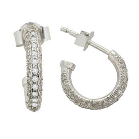 Hammered Hoops Diamond Earrings- AMER0283W