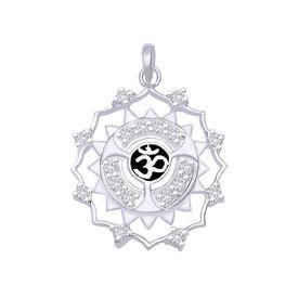 OM Zircon Silver Pendant-PD133