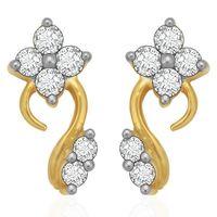 Striking Diamond Earrings- BANS0894ER, si - ijk, 14 kt