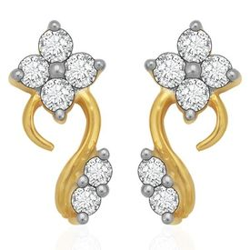 Striking Diamond Earrings- BANS0894ER