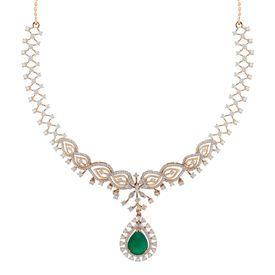 Adora Petals Drop Diamond Necklace-RBN0085