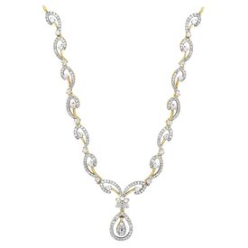 Swirl Diamond Necklace-RBN0042