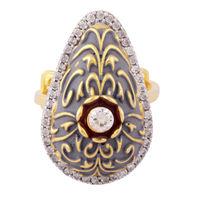Go Pear Silver Ring-FRL160, 17