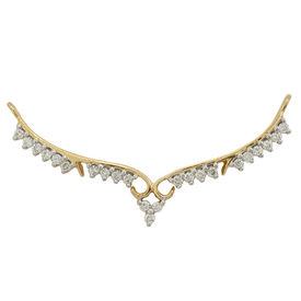 Traditional Diamond Mangalsutra- GUTS0081T