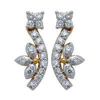 Bloom Diamond Earrings- GUTS0214ER, si - ijk, 18 kt
