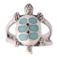 Green Dots Silver Unisex Ring-FRL184, 19
