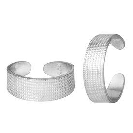 Plain Engraved Silver Toe Ring-TRRD003