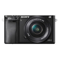 Sony ILCE-6000L Digital Camera (with SELP1650 Lens),  black
