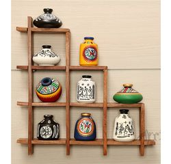 Wooden Sheesham Wall Decor Frame 9S with out Pots, wooden, 13x13x2
