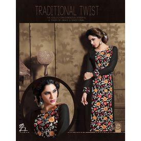 Akiraa Collection Vol 5 Designer Salwar Suit Unstitched Black, black, georgette