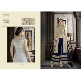 Hanin Collection Vol 3 Salwar Suit Semistitched Golden & Blue, golden & blue, silk