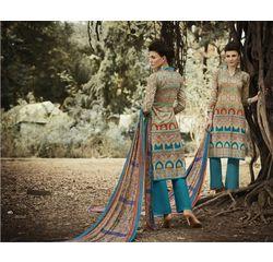 Ramp Collection Vol 4 Designer Salwar Suit Unstitched Blue, blue, cambric