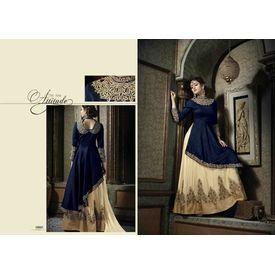 Hanin Collection Vol 3 Salwar Suit Semistitched Blue, blue, silk