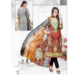 Kahira Collection Designer Salwar Suit Unstitched Multicolor, multicolor, cotton