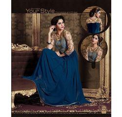 Akiraa Collection Vol 5 Designer Salwar Suit Unstitched Blue, blue, georgette