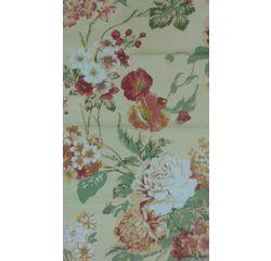 Vardhman Cotton Dohar Beige with Red Floral Pattern Double, beige