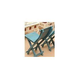 Aakriti Arts Sofa Chair Single Teak Wood Blue, blue, 14 x12 x28  inch
