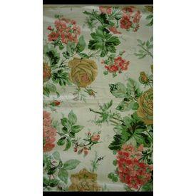 Vardhman Cotton Dohar White Floral Green Double, white