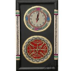 Aakriti Arts WALL CLOCK WITH GLASS, black, 18x10  g