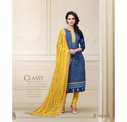 Nitya Collection Salwar Suit Unstitched Blue, blue, cotton