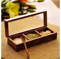 Aakriti Arts Handpainted Masala Box 3, brown