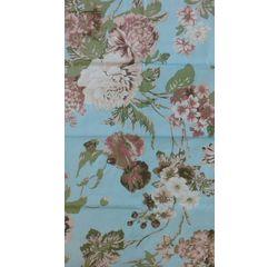 Vardhman Cotton Dohar Blue Floral Single, blue