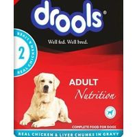 Drools Adult Real Chicken And Liver Chunks Gravy 80 gm X 12 Pcs