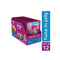 Whiskas Adult Wet Cat Food Tuna in Jelly 85 gm X 12 Pcs