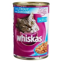 Whiskas Trout and Sardine in Jelly Can 400 gms