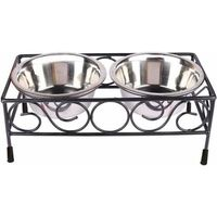 WROUGHT IRON FEEDING STAND-L