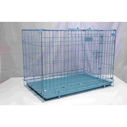 DOG CAGE - BLUE 91.5X57.5X66.5CM