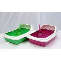 PLASTIC CAT LITTER TRAY RECTANGLE LARGE