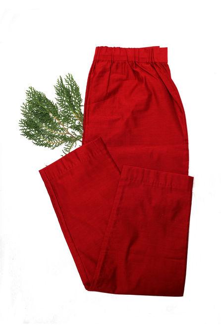RED SILK PANT