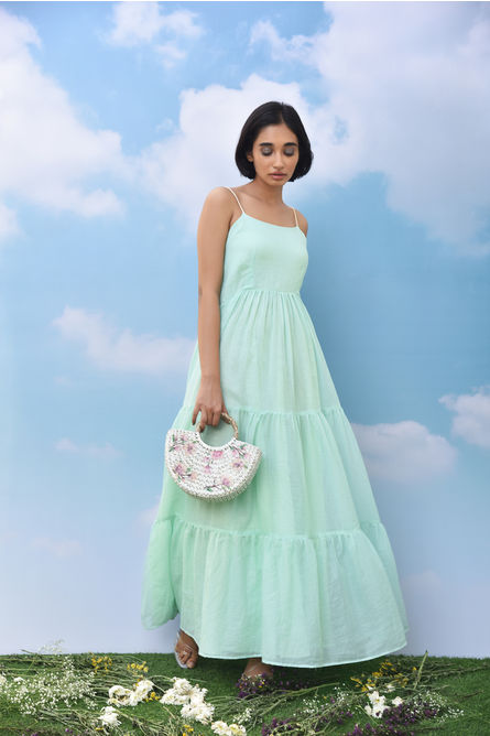MINT GREEN TIERED MAXI DRESS