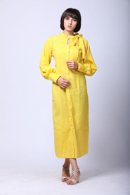 RETRO BOW TIE SHIRT DRESS